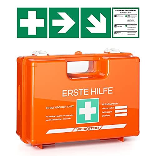 Erste Hilfe Kasten mit Inhalt nach DIN 13157 I...