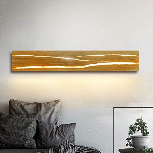 ZMH Holz Wandleuchte LED 8W Wandlampe innen Holz...