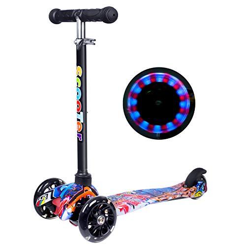 Yuanj Scooter Kinder Roller, Dreiradscooter für...