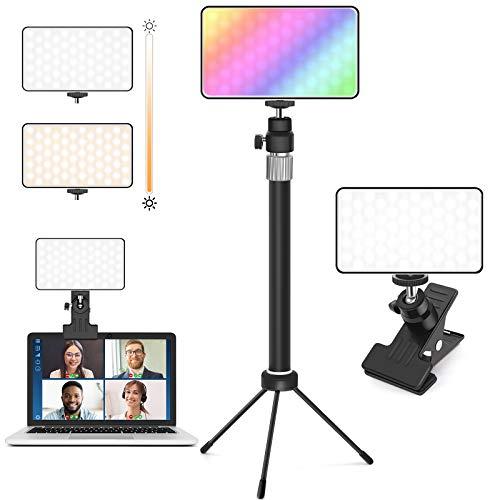 CoMokin Videokonferenz Licht, DimmbareBunt LED...