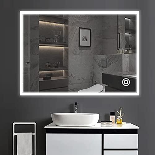 YOLEO Badspiegel mit Beleuchtung, Wandspiegel...