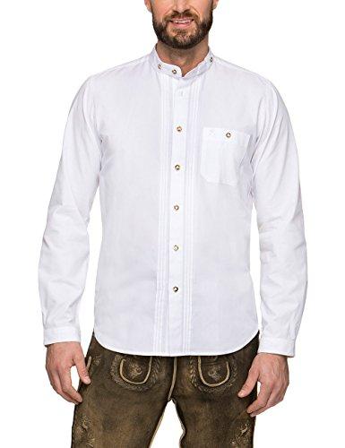 Stockerpoint Herren Leon Trachtenhemd, Weiß...