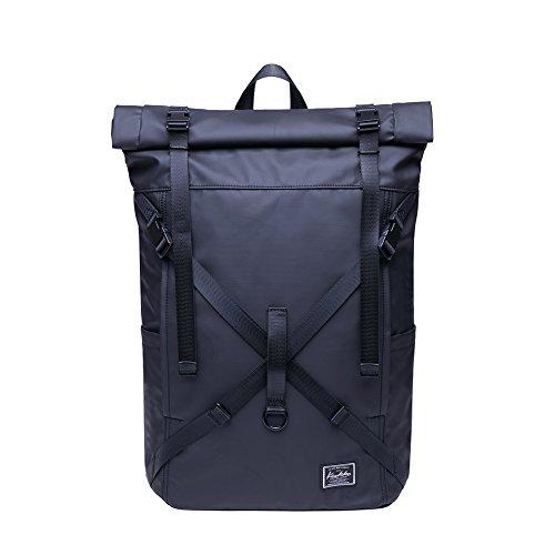 KAUKKO Rucksack Roll Top Backpack Lässiger...