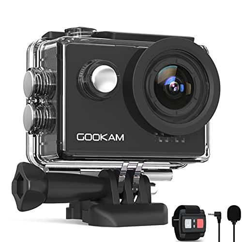 GOOKAM Action Cam 4K 60FPS 20MP WiFi Actionkamera...
