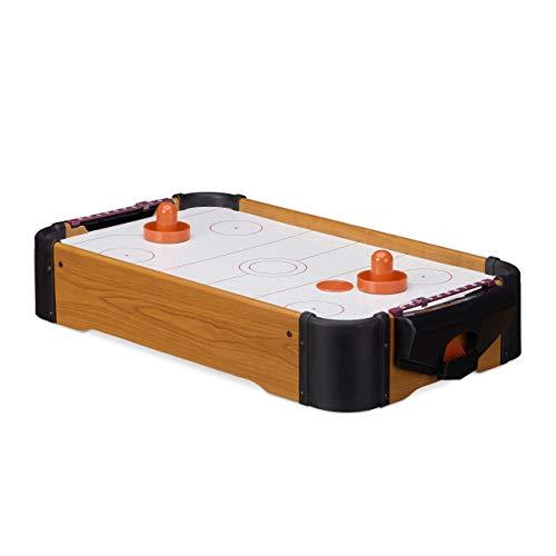 Relaxdays Airhockey Tischspiel, Tischairhockey mit...
