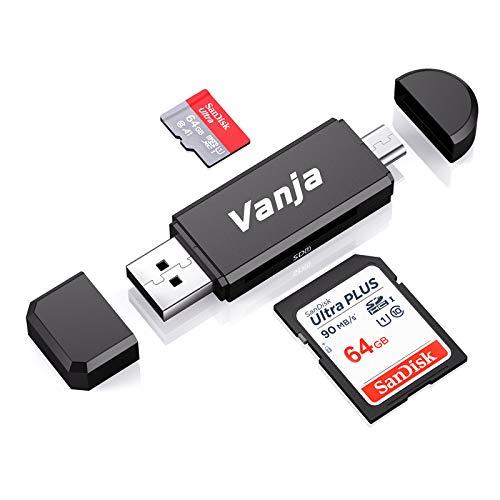 Vanja SD/Micro SD Kartenleser, Micro USB OTG...