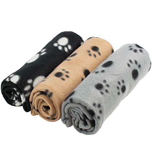 DIGIFLEX 3 x große weiche Fleecedecken für Hund...