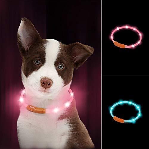 LaRoo led Hund leuchthalsband Leuchtend USB...