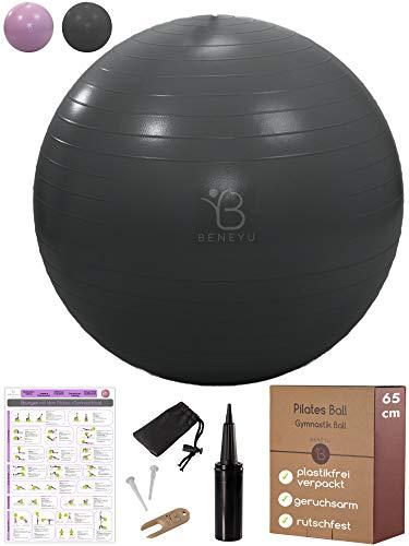beneyu® Robuster & Rutschfester Gymnastikball mit...