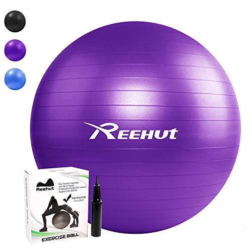 REEHUT Gymnastikball Sitzball Yoga Ball Pilates...
