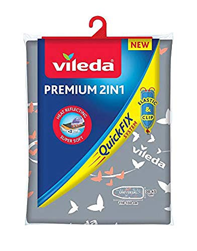 Vileda Premium 2in1 Bügelbrettbezug, silber-grau,...