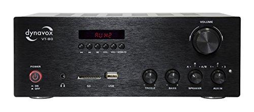 Dynavox Stereo Kompakt-Verstärker VT-80 schwarz,...