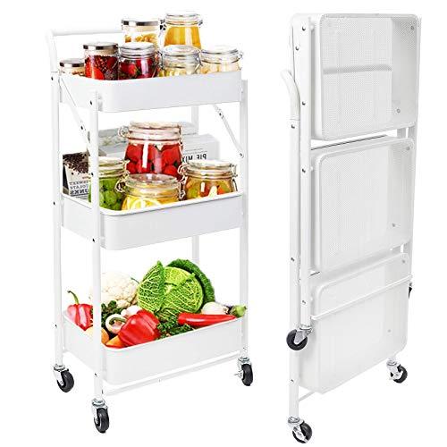 Rollwagen Küchenwagen Klappbar mit 3 Ebenen,...