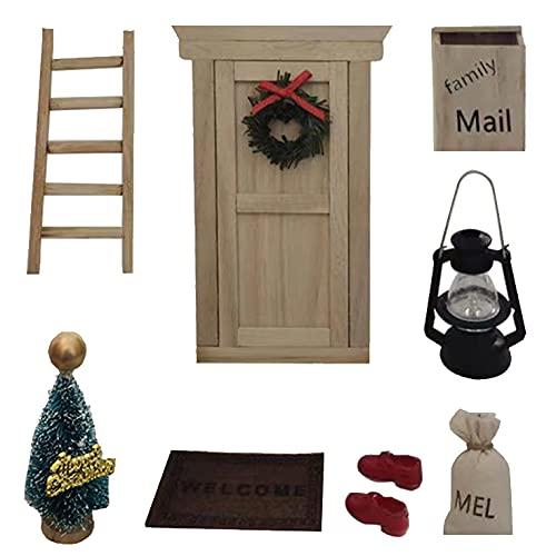 Wichteltür Weihnachten Set Miniatur Wichtel Set...