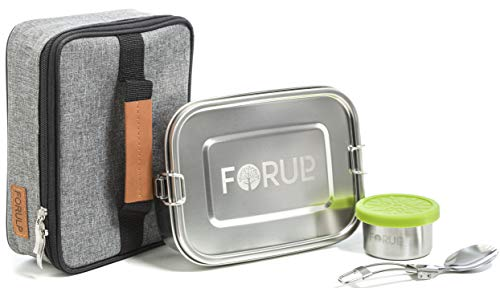 FORULP® Lunchbox Edelstahl Set 4 in 1 Brotdose...