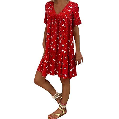 Fcostume Sommerkleid Damen V-Ausschnitt...