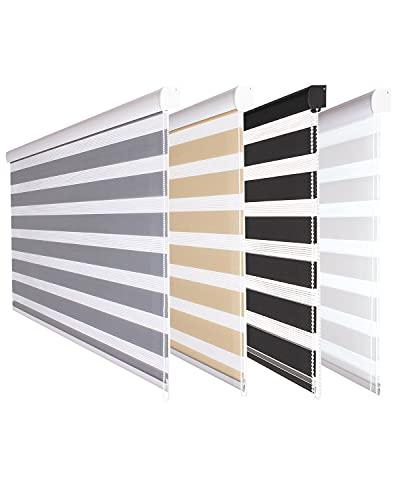 Fensterdecor Doppel-Rollo mit Aluminium-Kassette,...