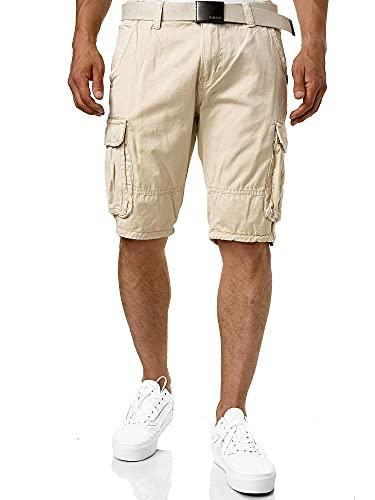 Indicode Herren Monroe Cargo ZA Shorts m. 6...