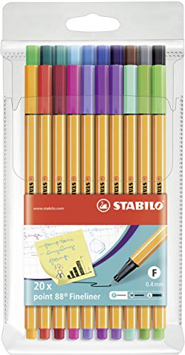 Fineliner - STABILO point 88 - 20er Pack -...