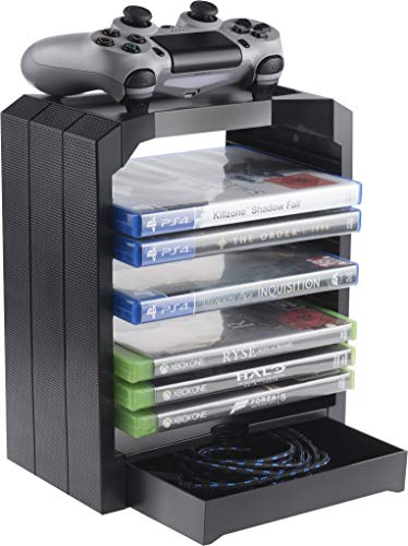 Geekhome - Universal Games Storage Tower for up to...