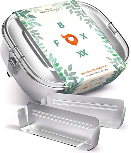 FOXBOXX® Brotdose Edelstahl   Premium   GRATIS...