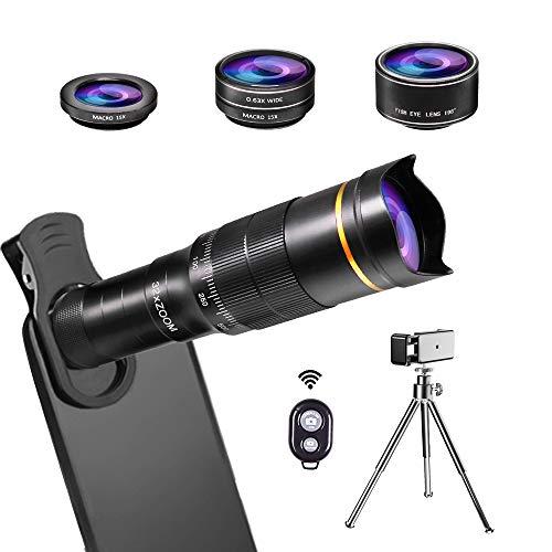 JONGSUN Handy Objektiv Kamera Linse Kit, 4 in 1...