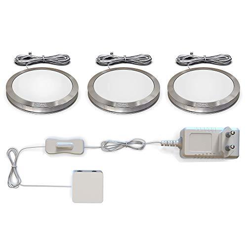 B.K. Licht LED Unterbauleuchten 3er Set...