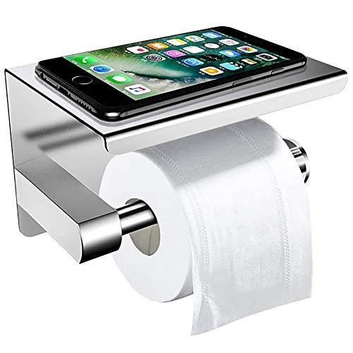 Toilettenpapierhalter Ohne Bohren mit Ablage, ZOTO...
