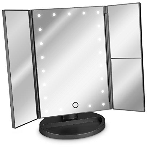 Navaris LED Kosmetikspiegel Faltbarer Standspiegel...