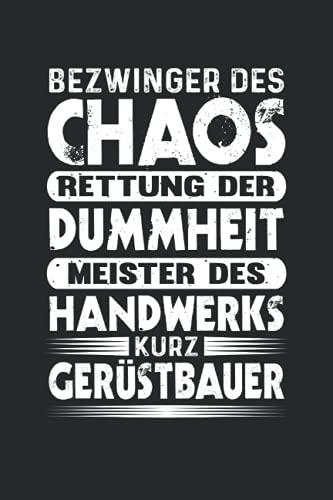 Gerüstbauer Notizbuch (liniert) Meister des...