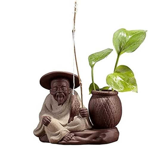 WQQLQX Statue Lila Keramik Handwerk skulptur...