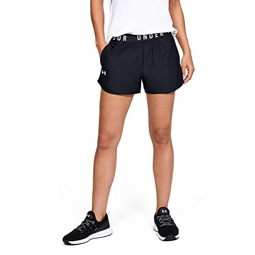 Under Armour Damen komfortable Sportshorts, Black...