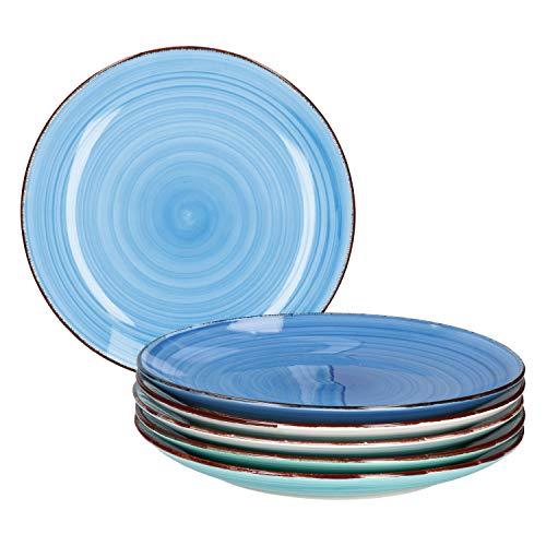 MamboCat Blue Baita 6x Speise-Teller blau I...