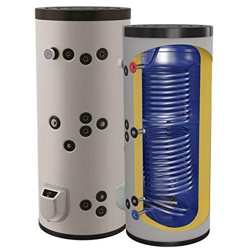 Kombinierter Warmwasserspeicher mit 2...