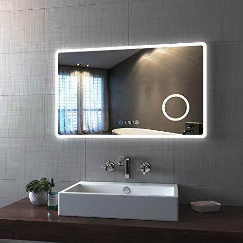 Bath-mann LED Badspiegel 100x60cm...