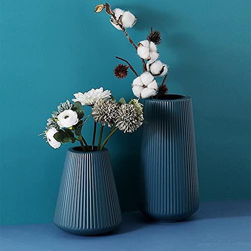 Queta 2 Stück Blumenvase Set Kunststoff Vase...