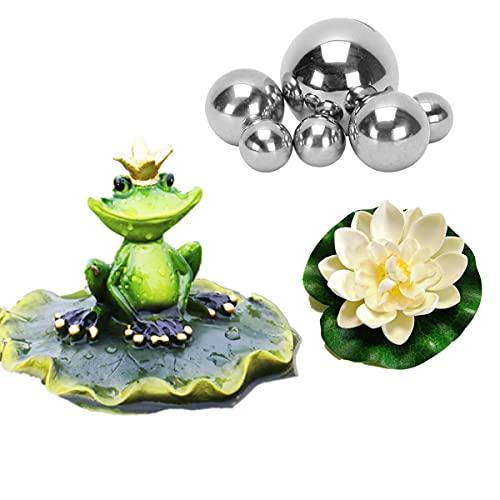 Super Idee Miniteich Deko Set Frosch auf Blatt...