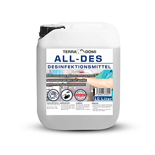 TerraDomi All-Des 10 Liter Desinfektionsmittel...