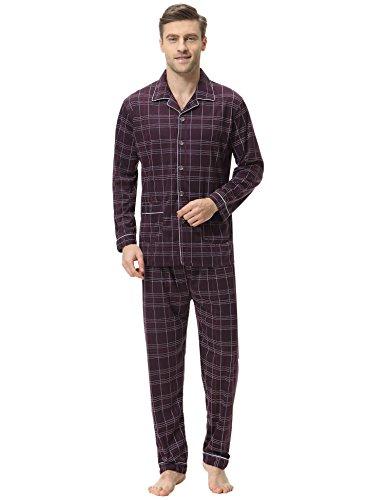 Herren Schlafanzug Zweiteiliger Pyjama Sets Jugend...