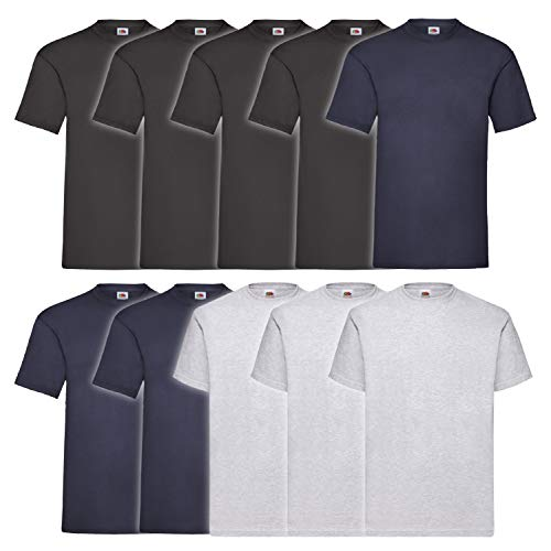 10 Fruit of the loom T Shirts Valueweight T...