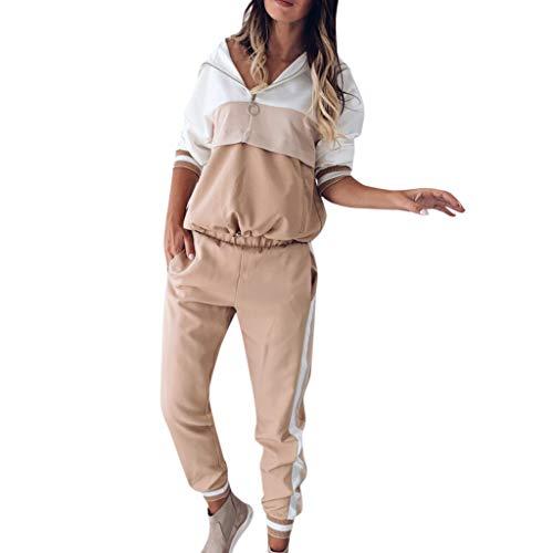 Streetwear Damen 2Pcs TrainingsanzüGe Patchwork...