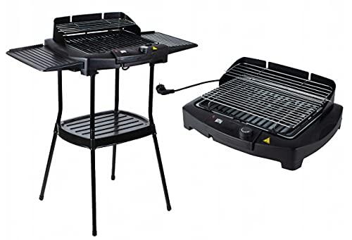 Elektrischer BBQ Grill Standgrill Elektrogrill...