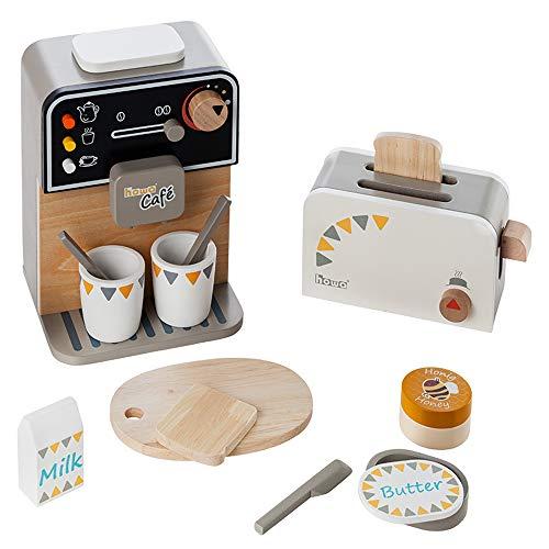 Howa Kaffeemaschine und Toaster aus Holz incl. 13...
