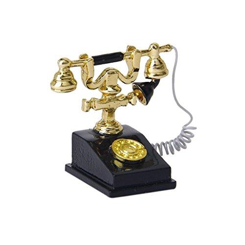 Gcroet Puppenhaus Zubehör, Tiny Retro Telefon...
