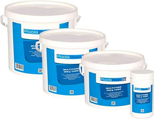 POOLSBEST® 5 kg Chlor Multitabs 5 in 1 200 g...