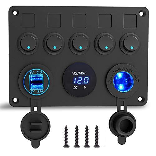 12V/24V Schalter Panel, mit USB-Ladeanschluss 4.2A...
