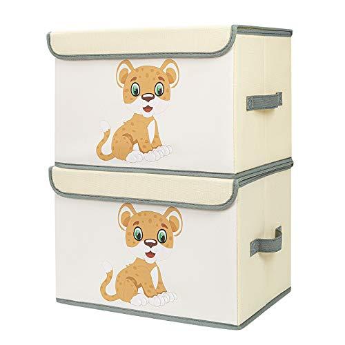 DIMJ 2 Stück Kinder Aufbewahrungsboxen mit...