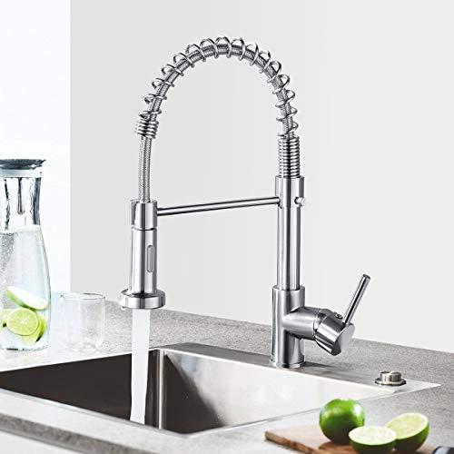 Küchenarmatur Wasserhahn Küche mit Brause, 360°...