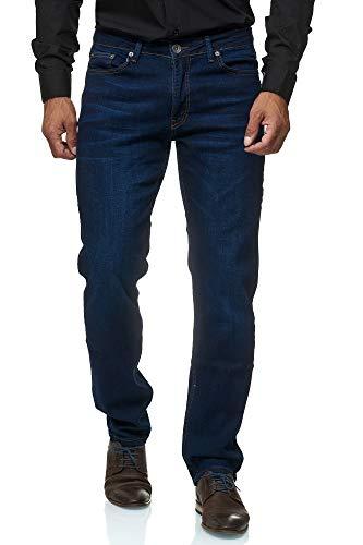 JEEL Herren-Jeans - Regular Fit Straight Cut -...