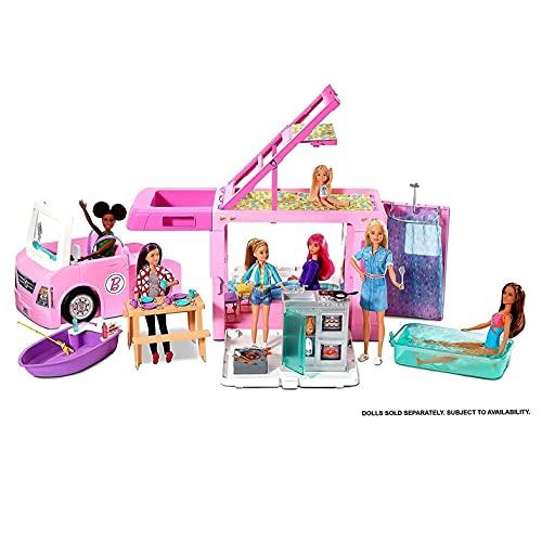 Barbie GHL93 - 3-in-1 Super Abenteuer-Camper mit...